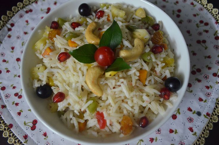 Fruit N Nut Vegetable Ghee Rice A fav rice prepartion I usually make for my foodie kids n husband.