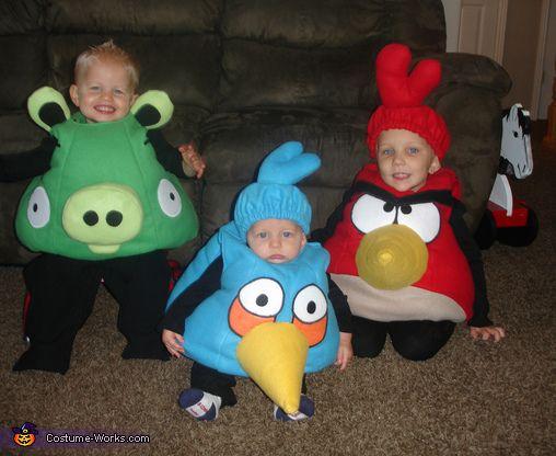 Angry Birds Costumes - Halloween Costume Contest via @costumeworks