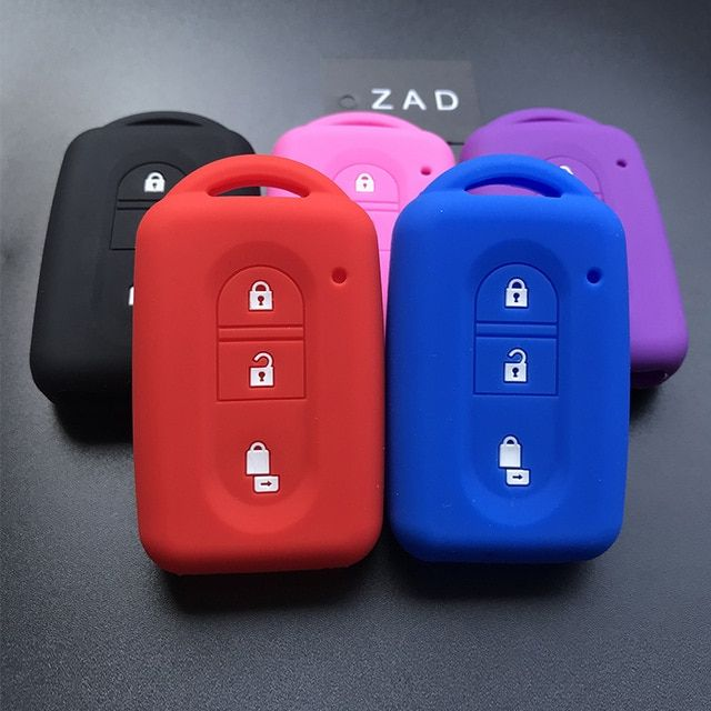 3 Button Rubber Car Remote Key Cover Case Shell Protective Blue for Citroen