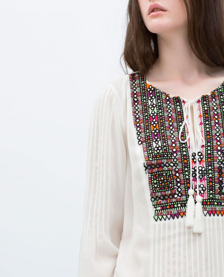EMBROIDERED TUNIC - View all - Tops - WOMAN | ZARA United Arab Emirates