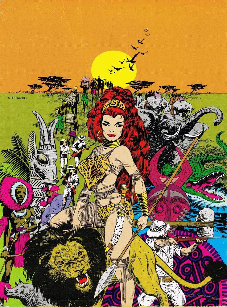 Art From Comic Artist Jim Steranko Produccion Artistica Dibujos