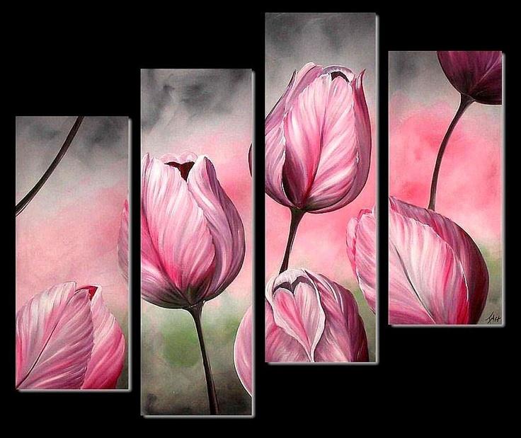 Schilderij tulpen 3920