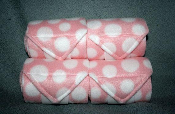 Pink Polka Dot Polo Wraps set of four Leg Wraps by reynola770  Dream Tack For Horse 1 - Busckskin