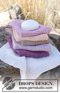 Easy washcloth (free knitting pattern) by Drops Design. http://www.garnstudio.com/lang/us/pattern.php?id=4935〈=us