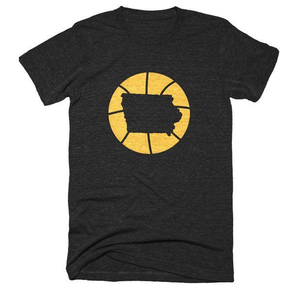 Iowa Basketball State T-Shirt