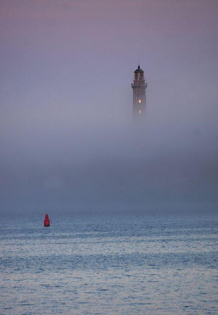 Faro en la niebla - isla de Thatcher