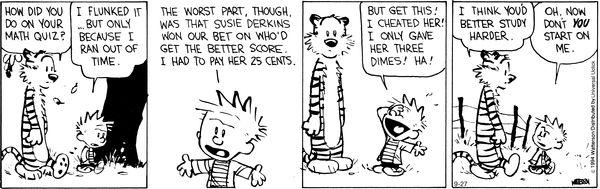 Calvin and Hobbes Comic Strip   for Sep/27/2014 on GoComics.com