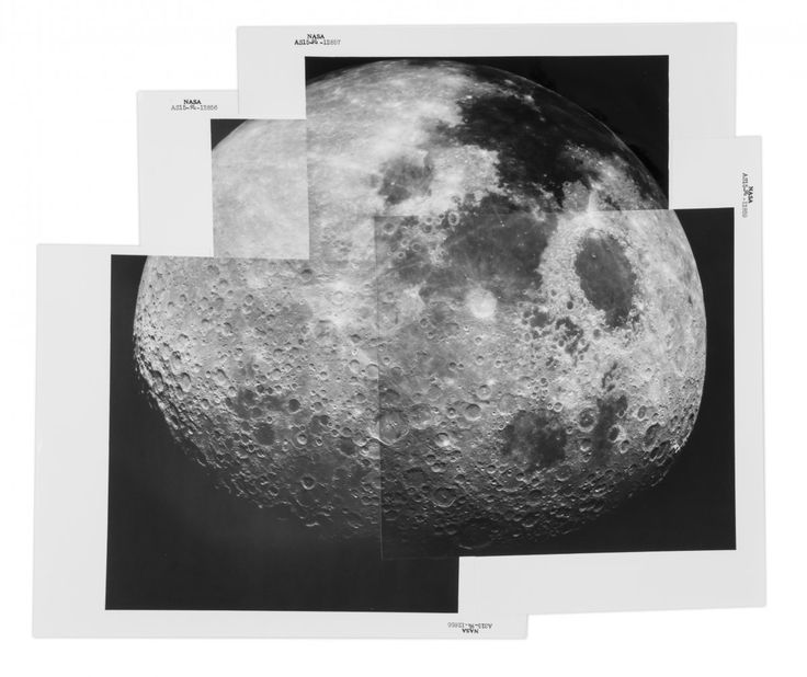 A panorama of the receding Moon, taken in August 1971 as crew members returned from the moon exploration of Apollo 15. It was the first mission in which astronauts used the Lunar Roving Vehicle, and the first to have astronauts spend more than 48 hours (and in fact closer to 72) on the Moon.