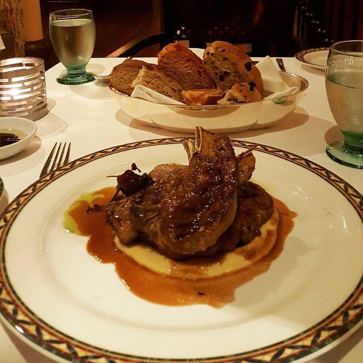 Italian grilled lamb with polenta and rosemary. Yaaaam.