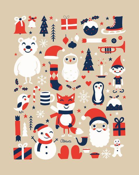 Merry Christmas Art Print by Greg Abbott | Society6