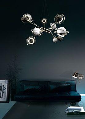 Cosmo: lampada scultura/ Cosmo hanging dining sculptural cosmic lamp Design Illuminazione Interni Salerno