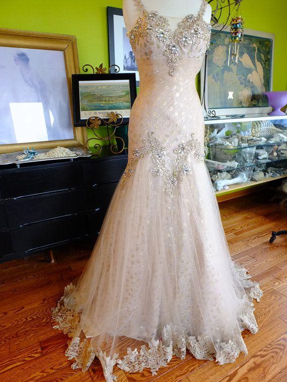 1920s Flapper wedding dress great gatsby by RetroVintageWeddings