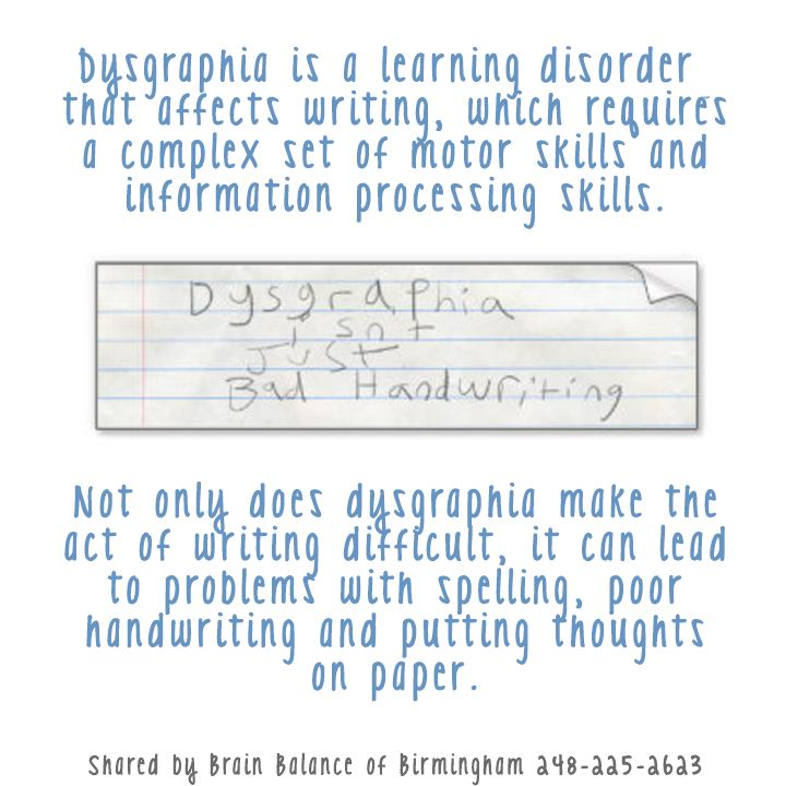 Dysgraphia Is A Learningdisorder That Affects Writing