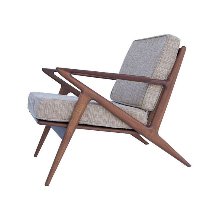 I have a vintage chair very similar to this.  Love this one, too! Palm Springs Lounge Chair in Beige | dotandbo.com