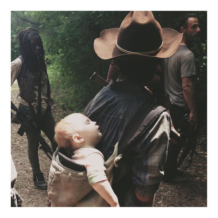 Carl and baby Judith #TWD