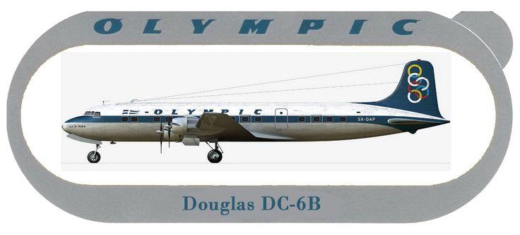 Olympic Airways Sticker Douglas DC-6B