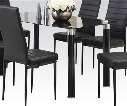 The Best Black Glass Dining Table Ideas On Pinterest Glass