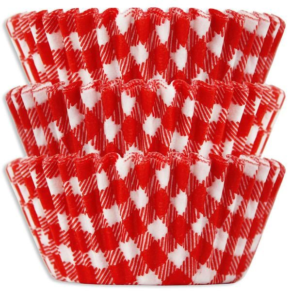 Red Gingham Baking Cups