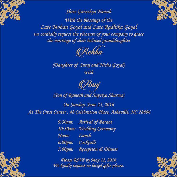 wedding invitation wording for reception ceremony  indian