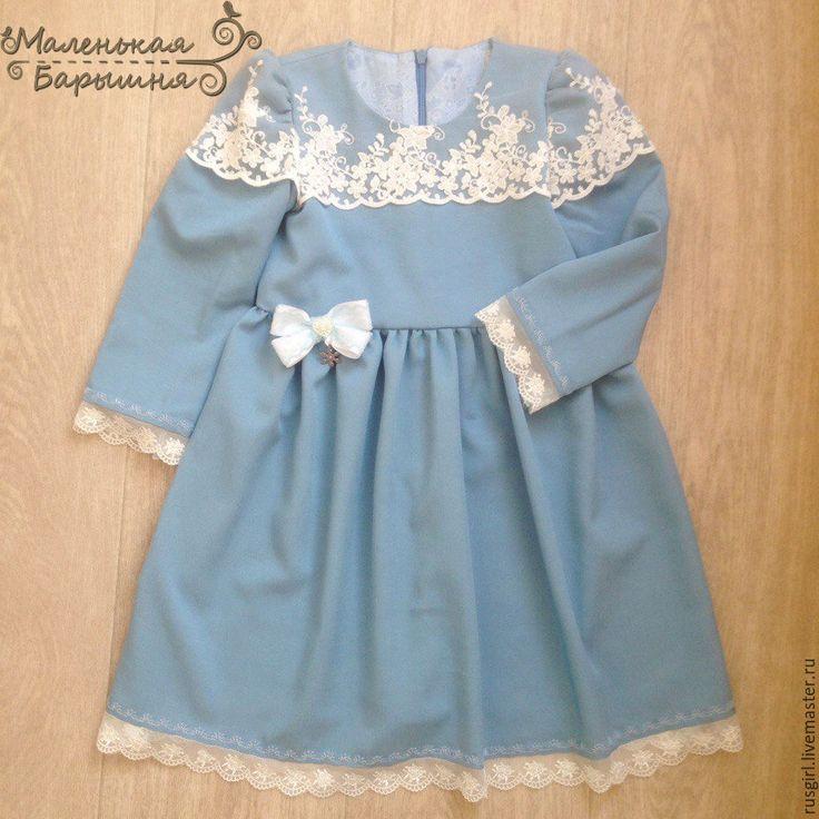 """Купить Платье """"Верочка"""" для девочки - голубой, цветочный, Платье нарядное, платье для девочки, платье на заказ"""