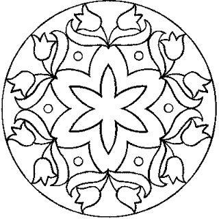 desenho de mandala para pintar colorir