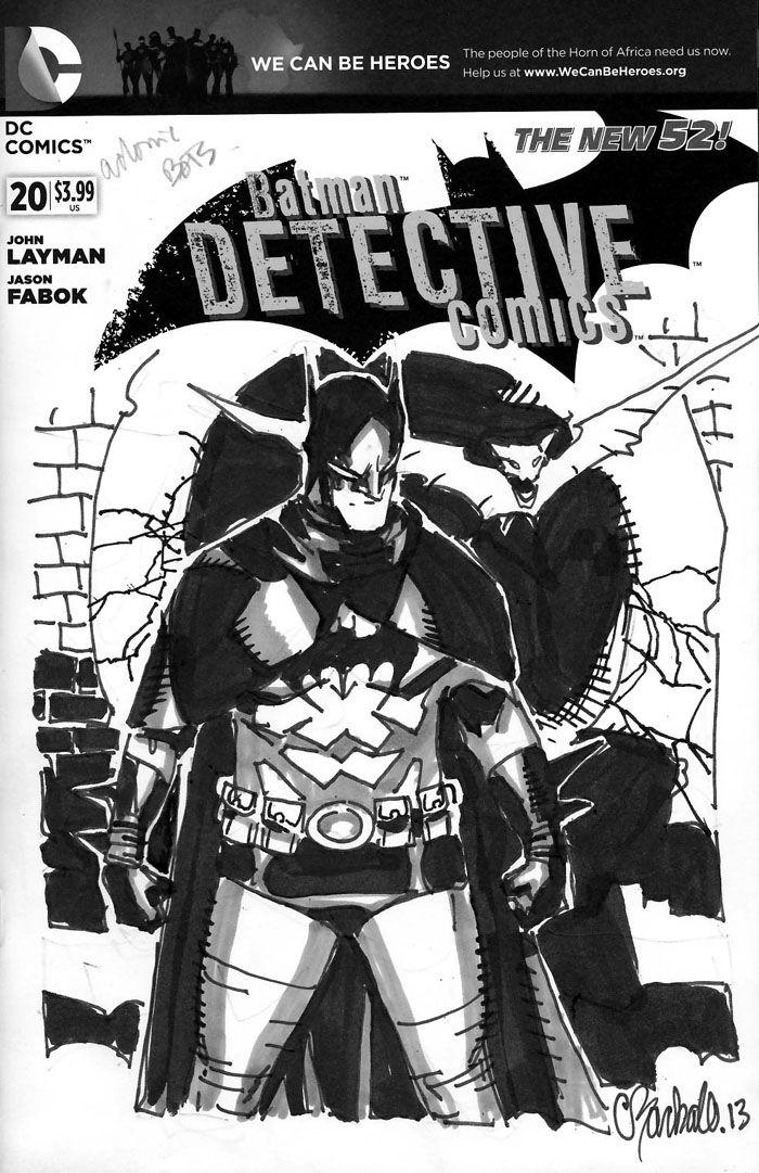 Batman by Chris Bachalo. Makes me want to see Bachalo do a Batman book.