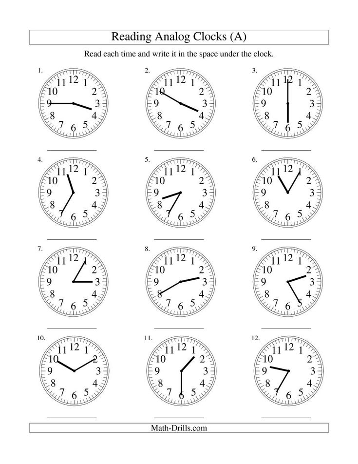 the reading time on an analog clock in 5 minute intervals a math worksheet from the. Black Bedroom Furniture Sets. Home Design Ideas