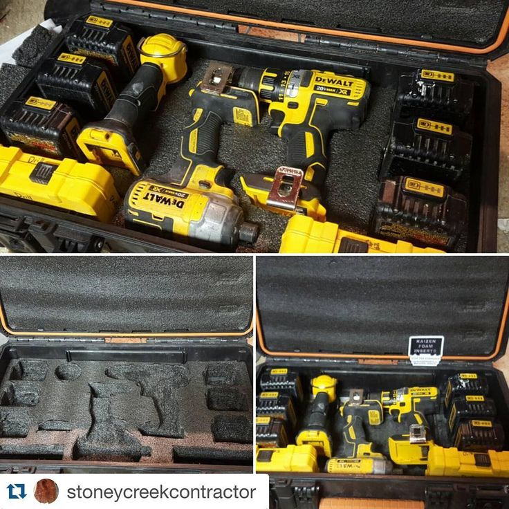 """240 Likes, 16 Comments - Foam Tool Box Inserts (@kaizen_inserts) on Instagram: """"AMAZING JOB HERE on the layout of tools in this Ridgid tool box! #kaizentoolinsert…"""""""