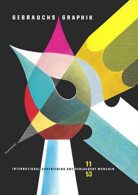 Heinz Schwabe, cover design, 1953. Gebrauchsgraphik 11