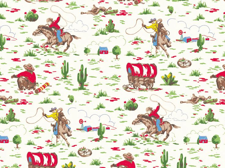 Cowboy | Cathu0027s Love Of Vintage Americana Inspired This Favourite Novelty  Print, Which Was Originally