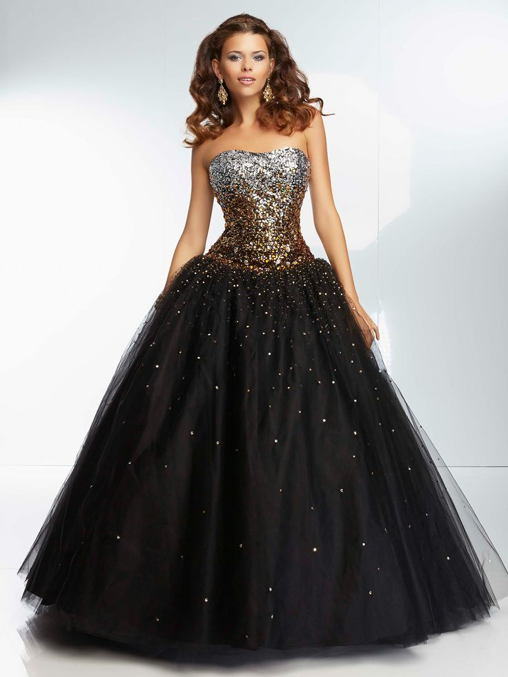 Glitter Ball Gown Prom Dresses