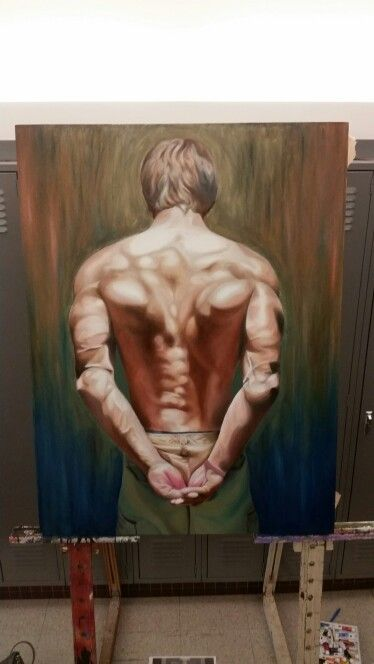 Back oil painting