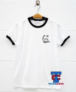 e569a48e2015 Dinosaur Pocket Print Ringer Shirt | Stuff To Buy