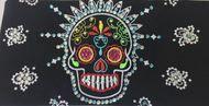 Bandana, sugar skull motorcycle bandana. Day of the Dead motorcycle bandana. #bandana #motorcycle