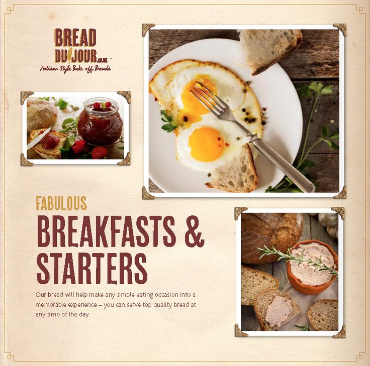 Breakfast wouldn't be the same without Bread www.breaddujour.co.uk