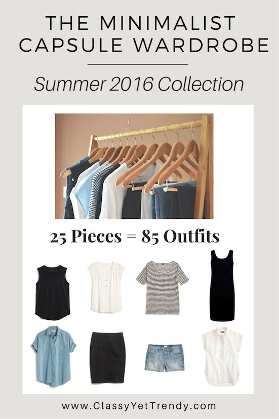 Minimalist Capsule Wardrobe Summer 2016 EBook Cover mdm