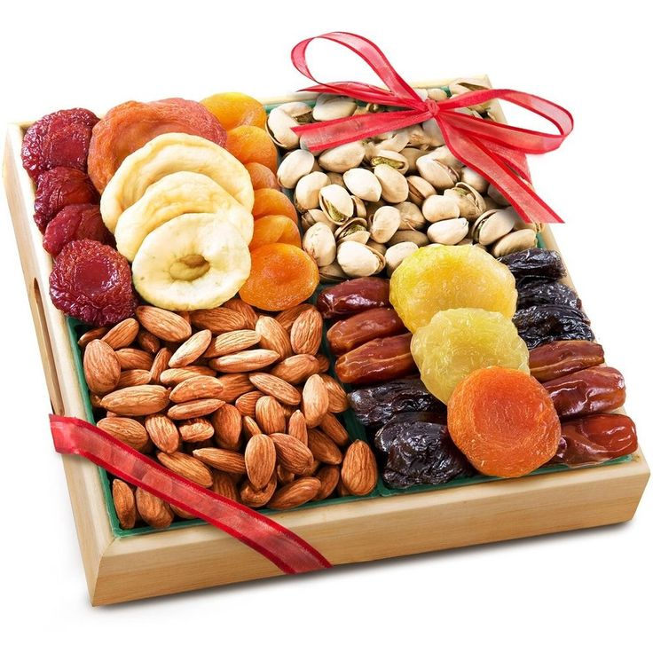 Pacific Coast Deluxe Dried Fruit & Nuts Gift Basket Wooden Tray Free Shipping Send as a gift - just fill in recipient's address at the space for the shipping address at checkout!   #PacificCoast #AnyOccasion