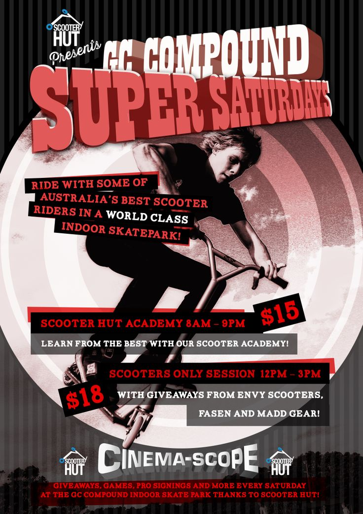 Poster for Scooter Huts Super Saturdays