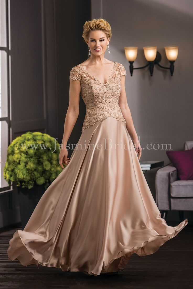 Jasmine bridal jade couture style k188051 in mica fall for Mother of the bride dresses for fall wedding