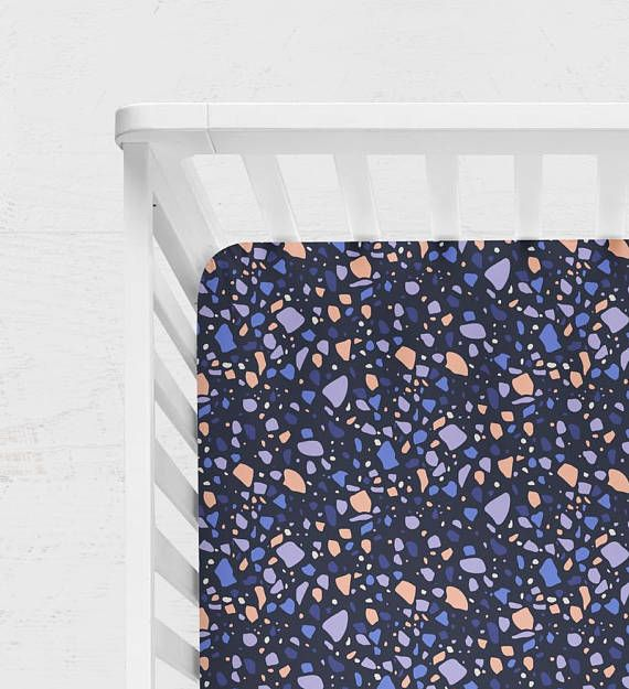 NAVY CRIB BEDDING. navy baby bedding. coral baby bedding.