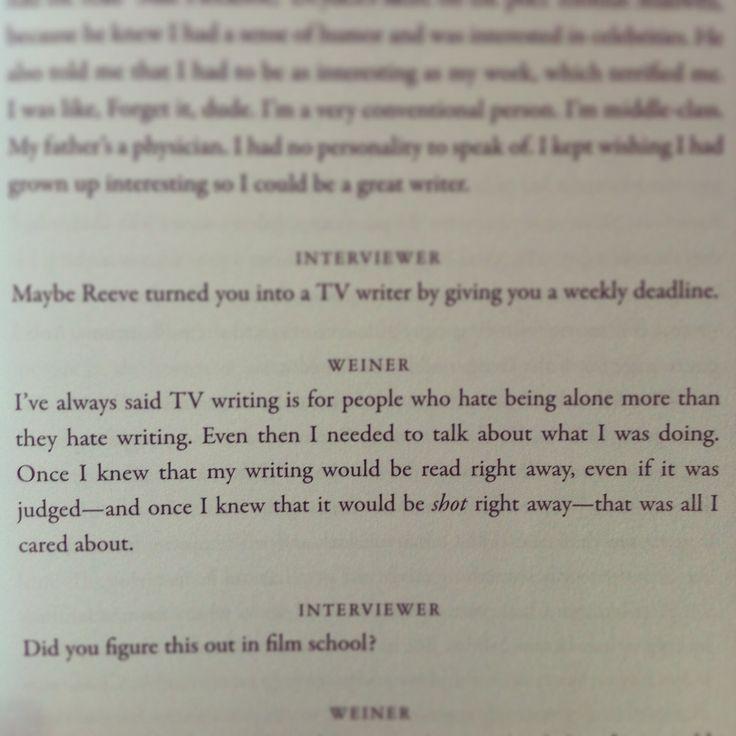 Matthew Weiner, on TV writing.