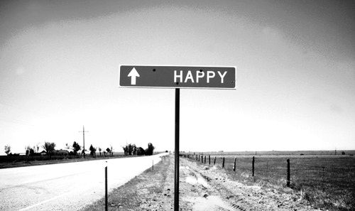 Theres actually a town like 1 hour away named happy texas! so friendly! This sign might be that place! Looks like it!(: