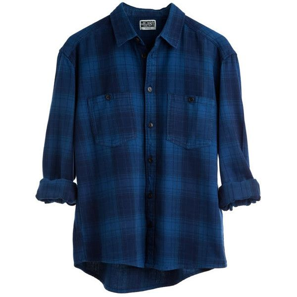 Lad Od Flannell Blue Shirt - Weekday ❤ liked on Polyvore featuring tops, shirts, men, flannels, blue top, shirt top, blue flannel shirt, flannel tops and flannel shirt