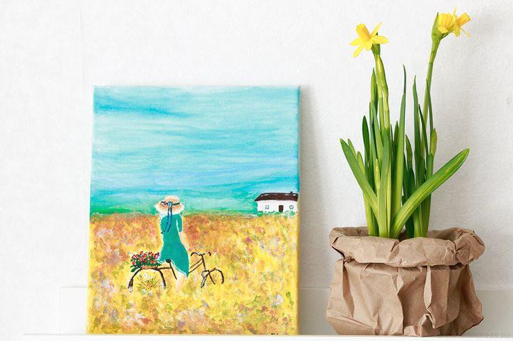 Летнее настроение | Summer mood acrylic painting, рисование акриловыми красками