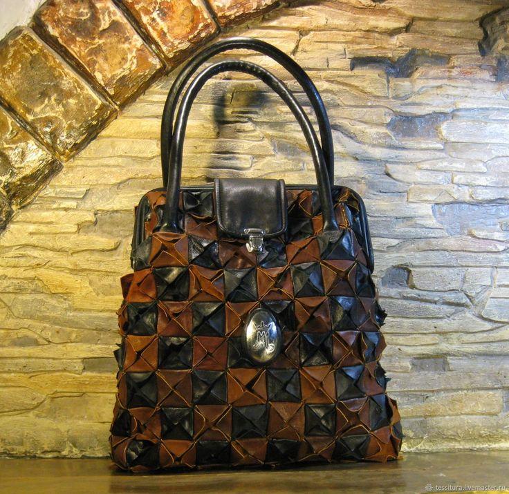 Купить СУМКА – «ОРИГАМИ» - Кожаная сумка, универсальная сумка, стильная сумка, авторская сумка