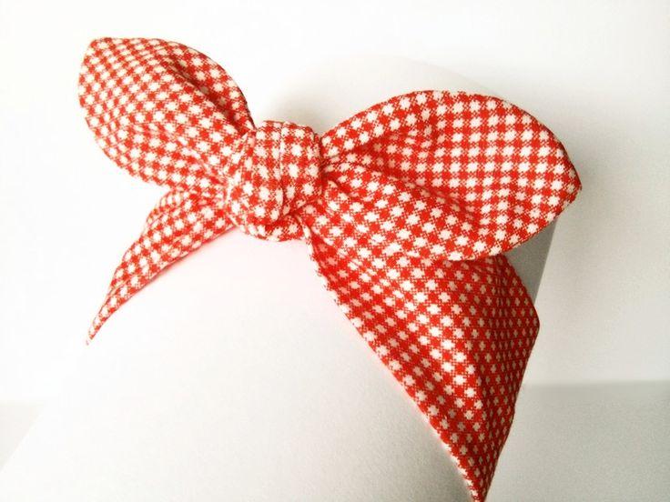 Opaska bawełniana pin-up dla Małej Królewny - MadebyKaza - Opaski dla niemowląt