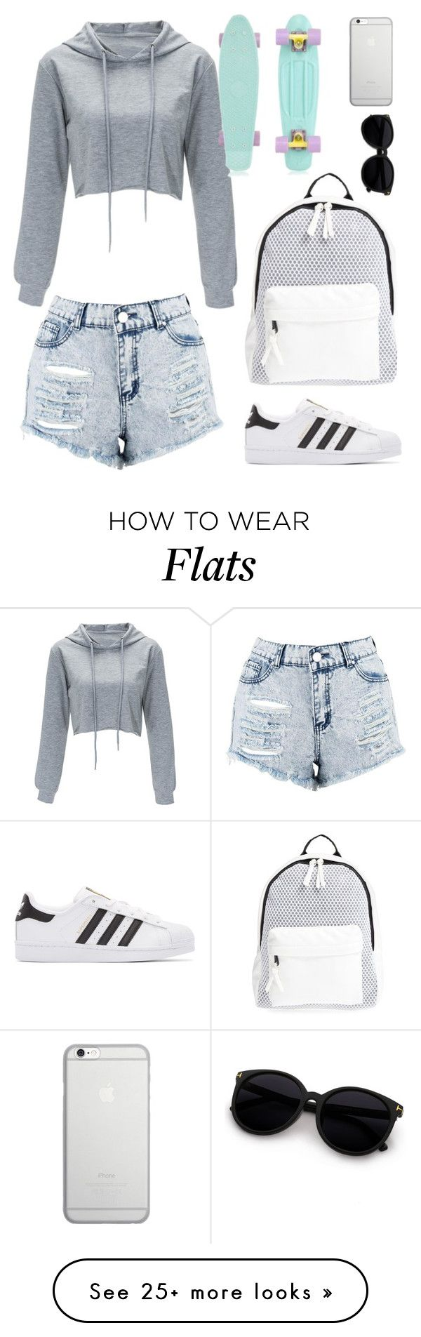 """Untitled #134"" by mimikhoran on Polyvore featuring Boohoo, adidas Originals, Poverty Flats and Native Union"