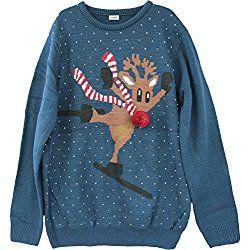 Shineflow Women's Rudolph Reindeer Ski Ugly Christmas Sweater Plus Size