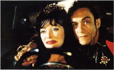Susan Tyrrell as Ramona Rickettes and Iggy Pop as Belvedere Rickettes in Cry-Baby (Dir. John Waters) 1990