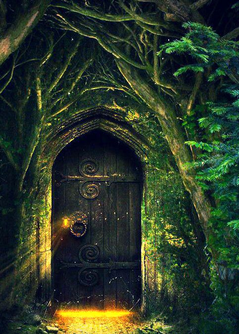 ღ❥ Green \u0026 Brown ❥ღ Fairytale forest portal.